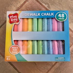 Play day won't roll away side walk chalk 48 colors